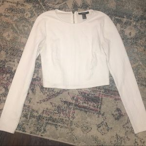 Forever 21 Sweaters - White cropped sweater long sleeve too